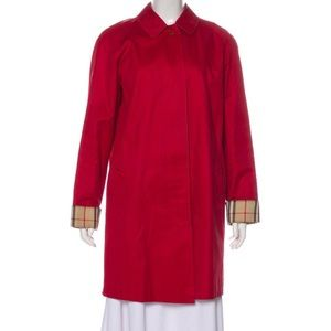 Burberry red coat
